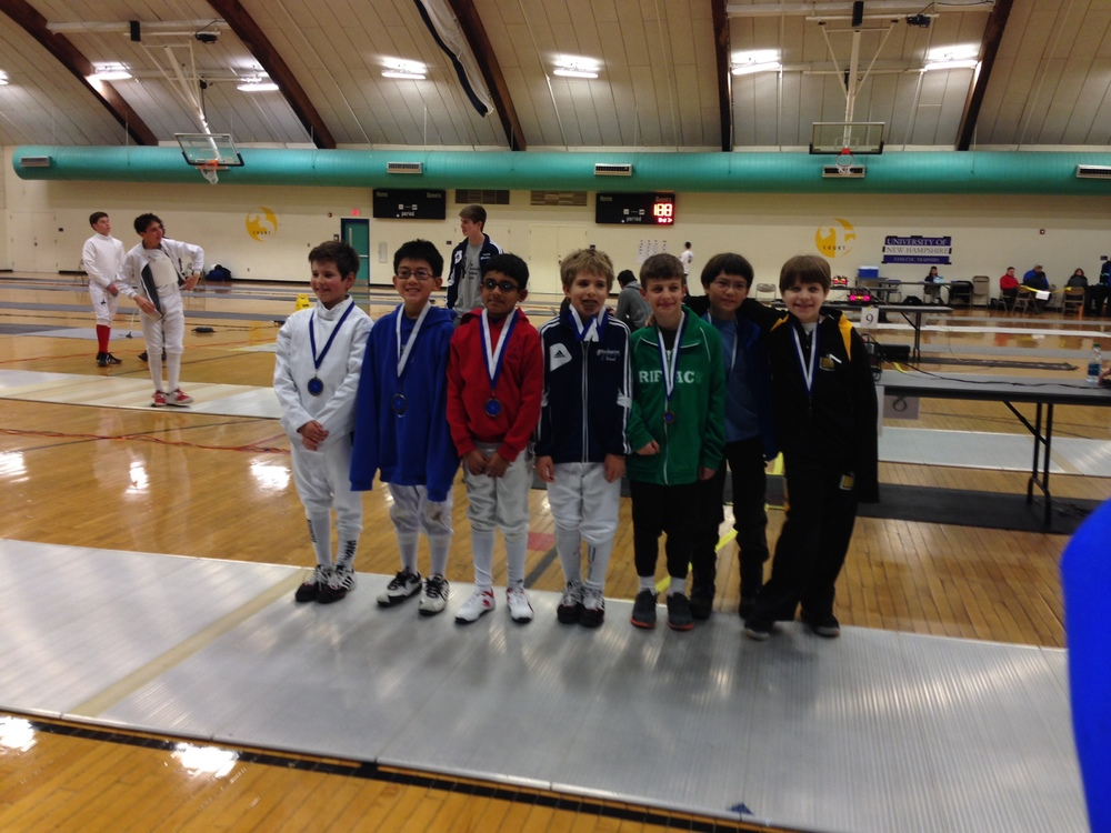 Dashiell Cloud with his 8th place medal at the Sword in the Snow SYC