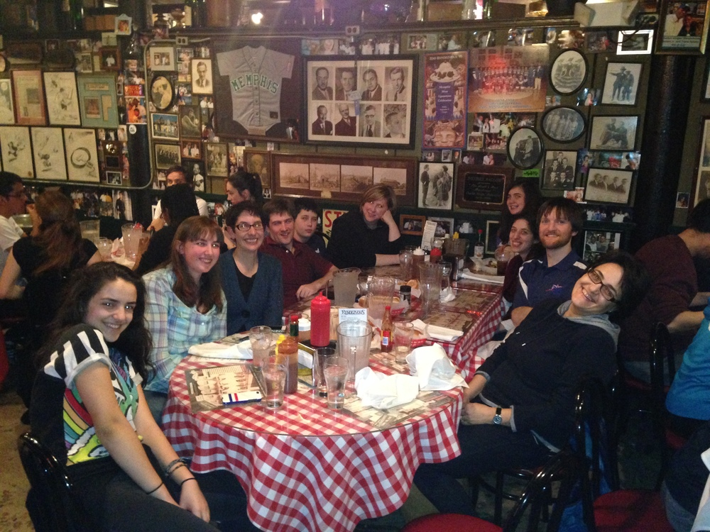Club members and family enjoying Memphis Barbecue at Rendevous in downtown Mempis.