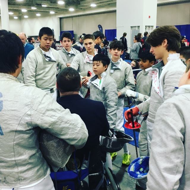 CJ waits for his Y14 DE at the March NAC in Salt Lake City.