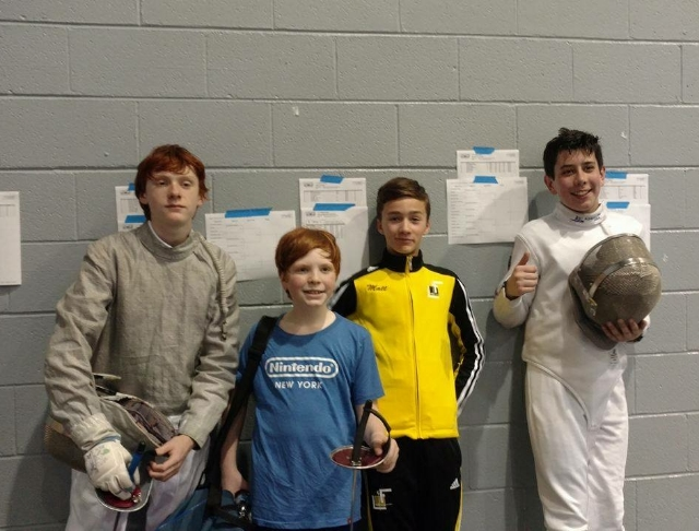 JT, Evan, Matt and CJ at the IFC Youth Saber on Sunday!