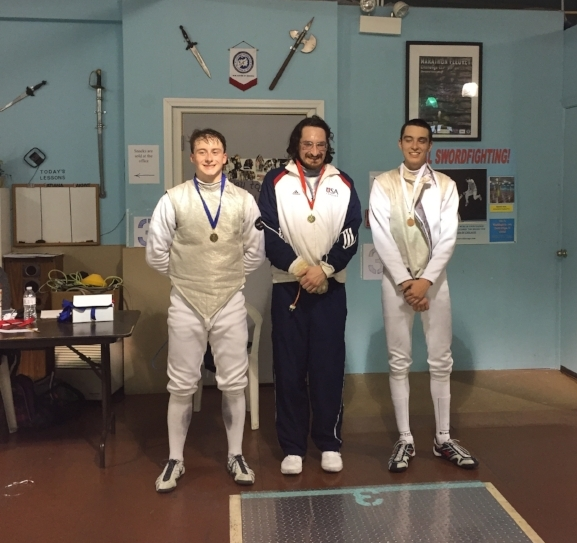 Gus with a Bronze in Division 2 Men's Foil!
