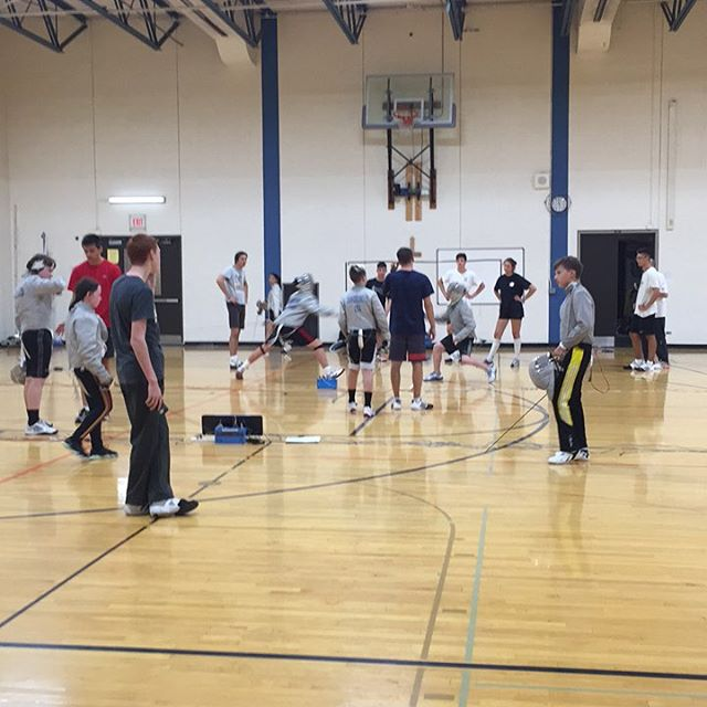 #International #Saber #Camp Day 6: #youth competition where each fencer is coached by one of the #Hungarian #athletes! A great opportunity to learn from and practice with very accomplished fencers! #fencing #chicago #lincolnsquare #evanston #canadianfencing #usfencing #vivas