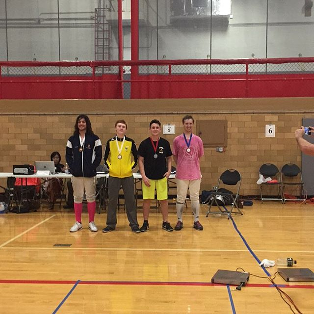 JT finished with the Bronze! #hardworkpaysoff #startingstrong #lincolnsquarechicago #fencing #saber #lincolnsquare #chicago