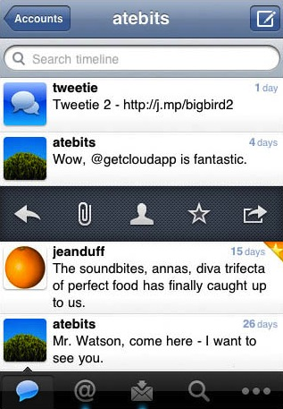 Tweetie 2.0 for iPhone, before Twitter took a shit on it