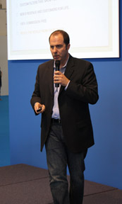 Speaking in Frankfurt, Germany