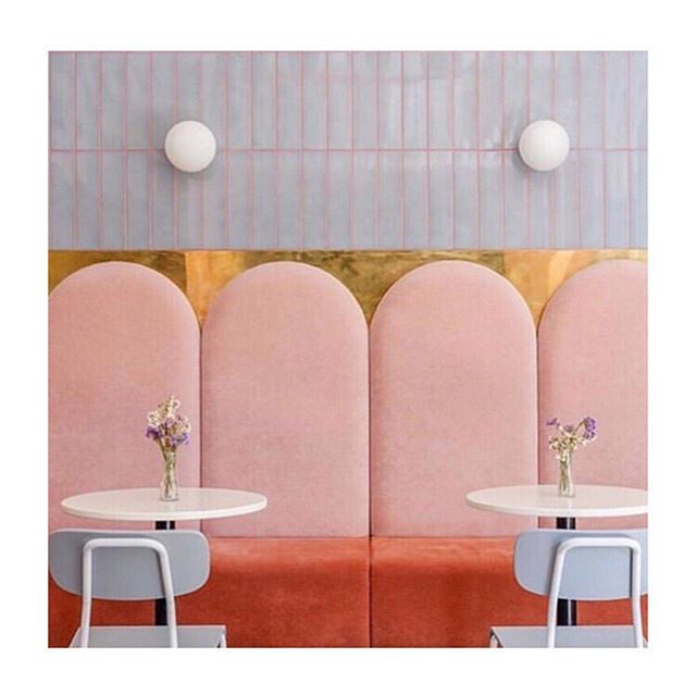 Great color inspiration is everywhere this week! This is an American style bakery (yes!) in Ukraine called @breadway_ods photo by @wilaminar via @designsponge. I wonder if they have twinkies.