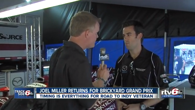 INDIANAPOLIS - The Road to Indy veteran almost made it to the Indy 500 before he made the decision to stick with sports cars. The decision has paid off in many ways.  Miller will race Friday afternoon in the 3rd Brickyard Grand Prix at the Indianapolis Motor Speedway.  Get the details from his interview with Dave Furst by clicking the image above.
