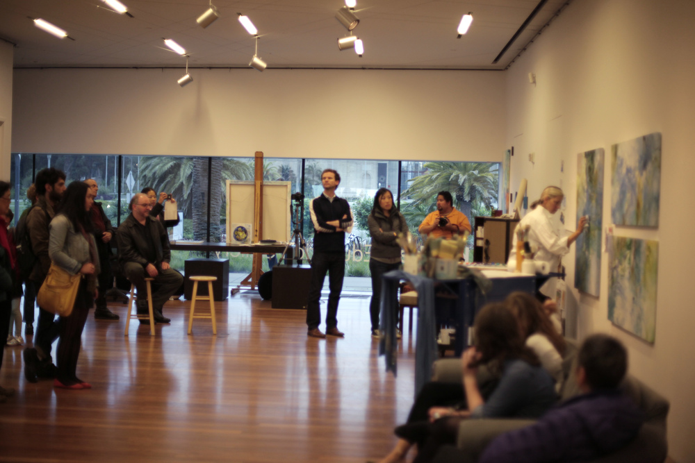 Painting demonstration in the gallery