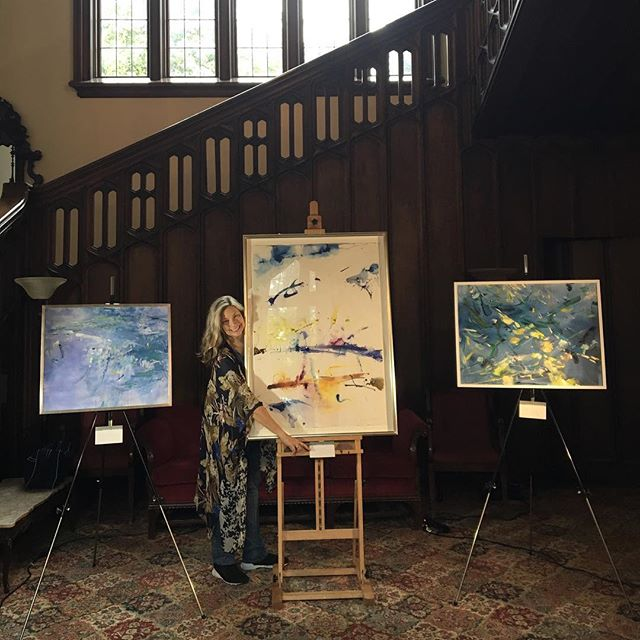 Paintings on exhibition -last concert of the season at #musicatkohlmansion #thespacebetween #painting #music #concert  #quartet #inspiration #artistinresidence