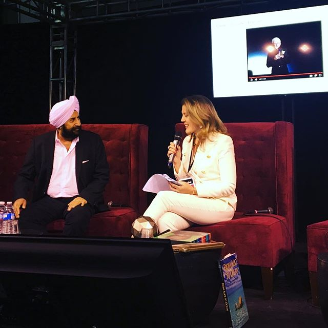 #satjivchahil speaking at #ifsowhat with the wonderful Karilinckscoomans #art #future #siliconvalley #sanfrancisco