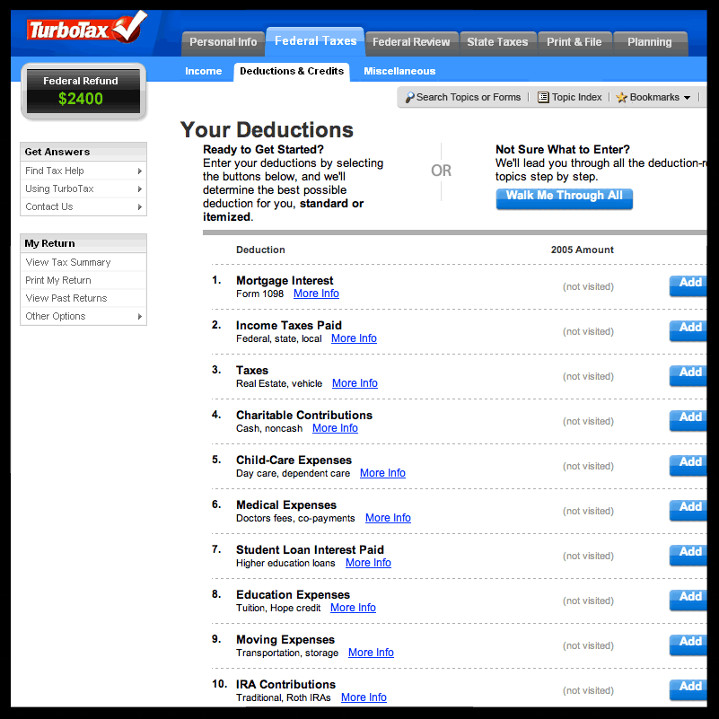 USER RESEARCH - TurboTax is designed to guide users through their tax returns step-by-step in an