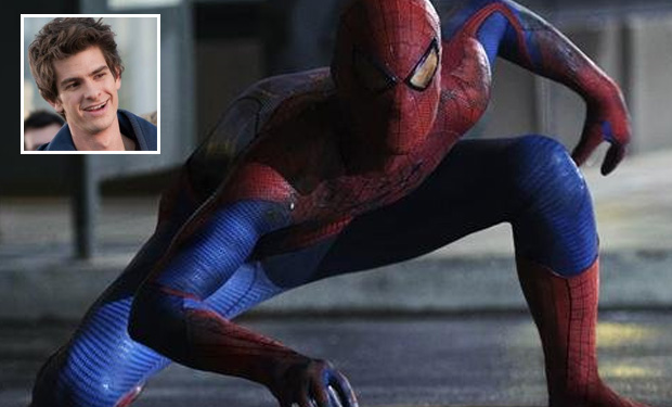 Spidey in action! (inset) Andrew Garfield plays the titular character.