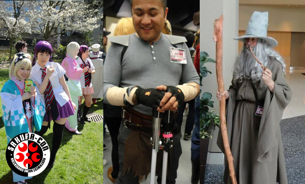 (L-R) LFTDG33k's Lillian dressed up as Shiemi Moriyama, myself dressed as Starkiller from the Force Unleashed (yes I guess I did dress up one day), YOU SHALL NOT PASS!!