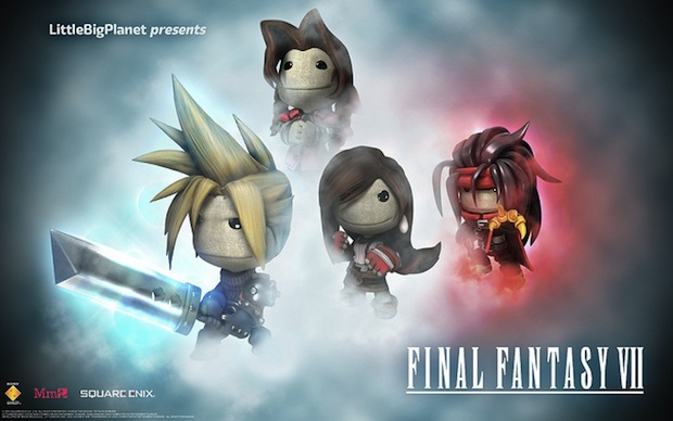 Sackboy variants of the characters from FF7