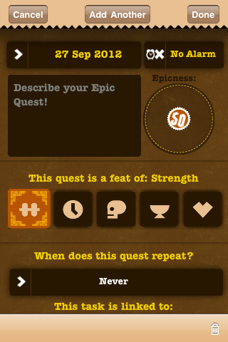 Creating your quest