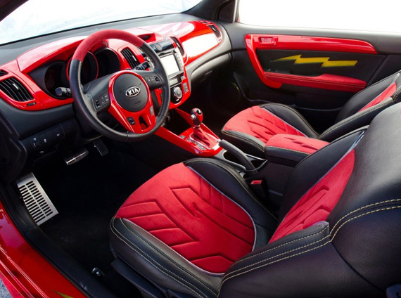 Interior of Flash inspired Forte Koup