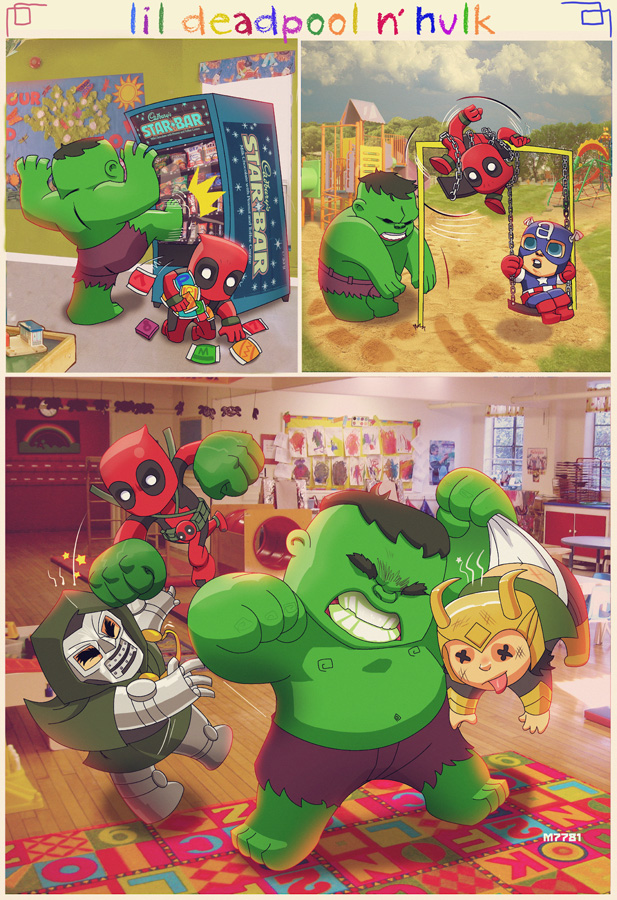 Adventures of Lil Dead Pool and Lil Hulk.jpg