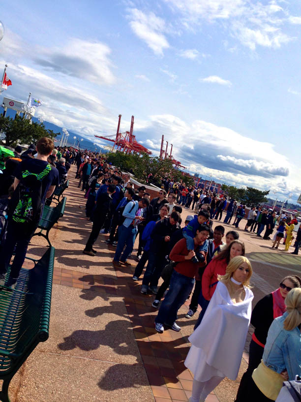 a gorgeous Vancouver day makes long lines that much more bearable...