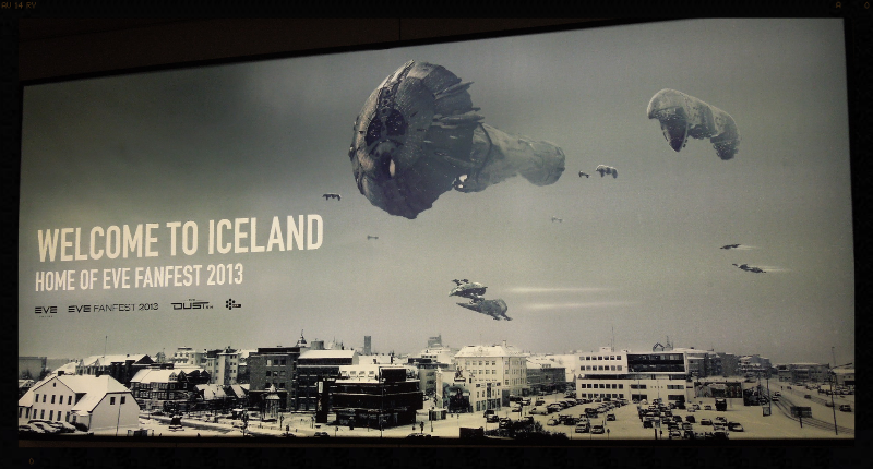 Keflavik airport welcomes attendees to EVE Fanfest 2013