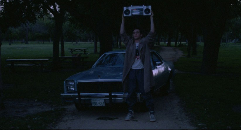 "the iconic ""boom box"" scene"