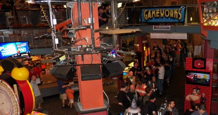 Gameworks, a super lively super arcade...