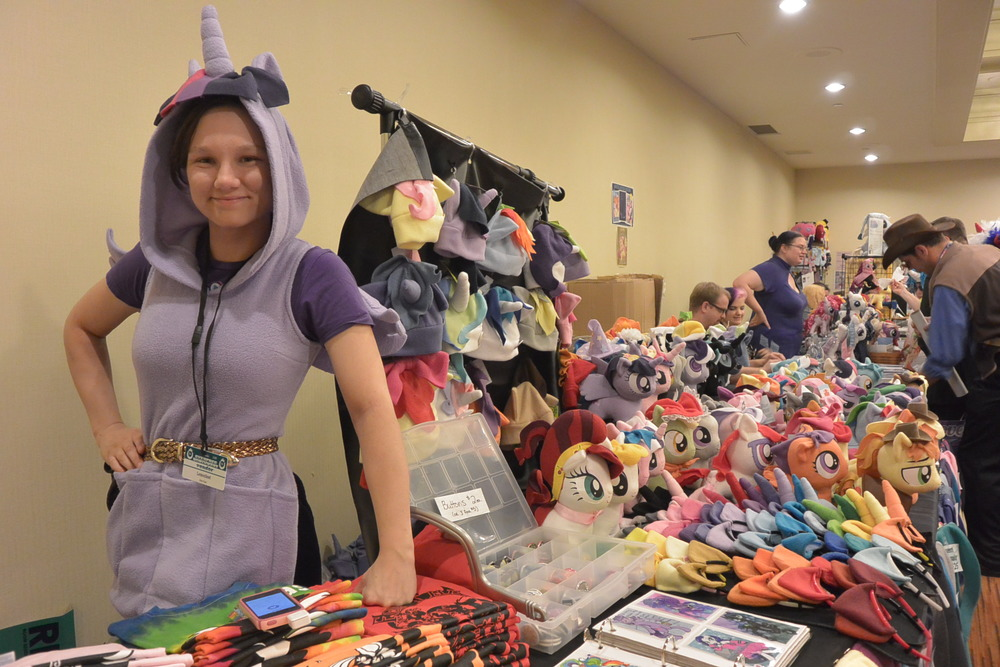 Owner at her Cutie Corral booth!