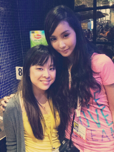Alodia Gosengfiao with Riri