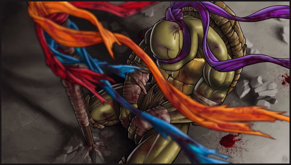 Donatello can't save his brothers and is the last turtle left standing.