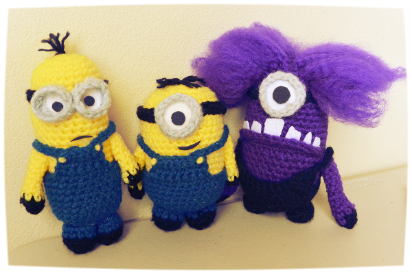 Despicable Me 40 Evil Minion Crochet Hair Tutorial Lifted Geek Best Free Minion Crochet Pattern