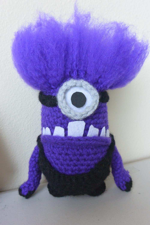 Despicable Me 2 Evil Minion Crochet Hair Tutorial Lifted Geek