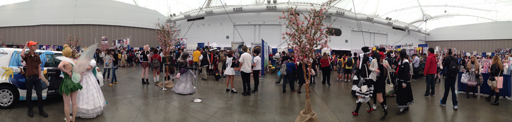 the vendor hall was pretty well utilized. Lots of space and didn't get too jam-packed