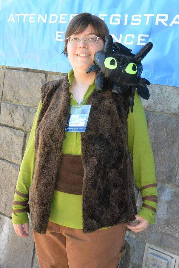 Hiccup and Toothless from How to Train a Dragon