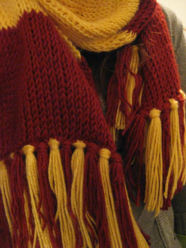 Knitting Pattern Gryffindor Scarf : Crochet Tunisian Harry Potter Scarf - Happy 15th Anniversary!   Lifted Geek