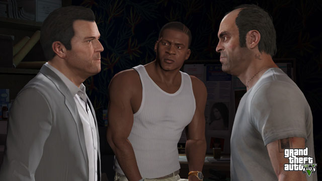 Meet our three protagonists, from left to right: Michael De Santa, Franklin Clinton, and Trevor Philips
