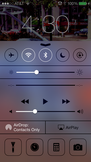 the control center is now a quick swipe up from the bottom