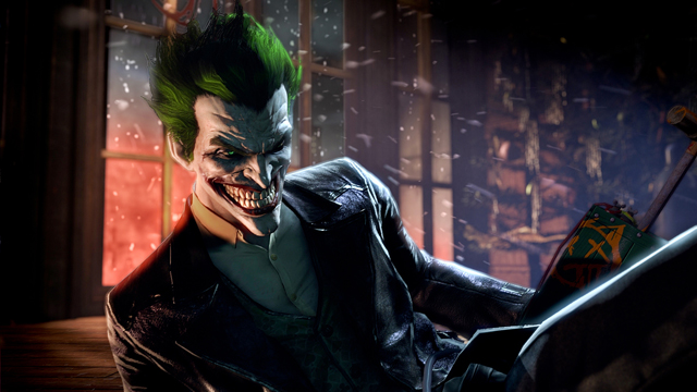 arguably Batman's most iconic nemesis, The Joker, voiced by Troy Baker