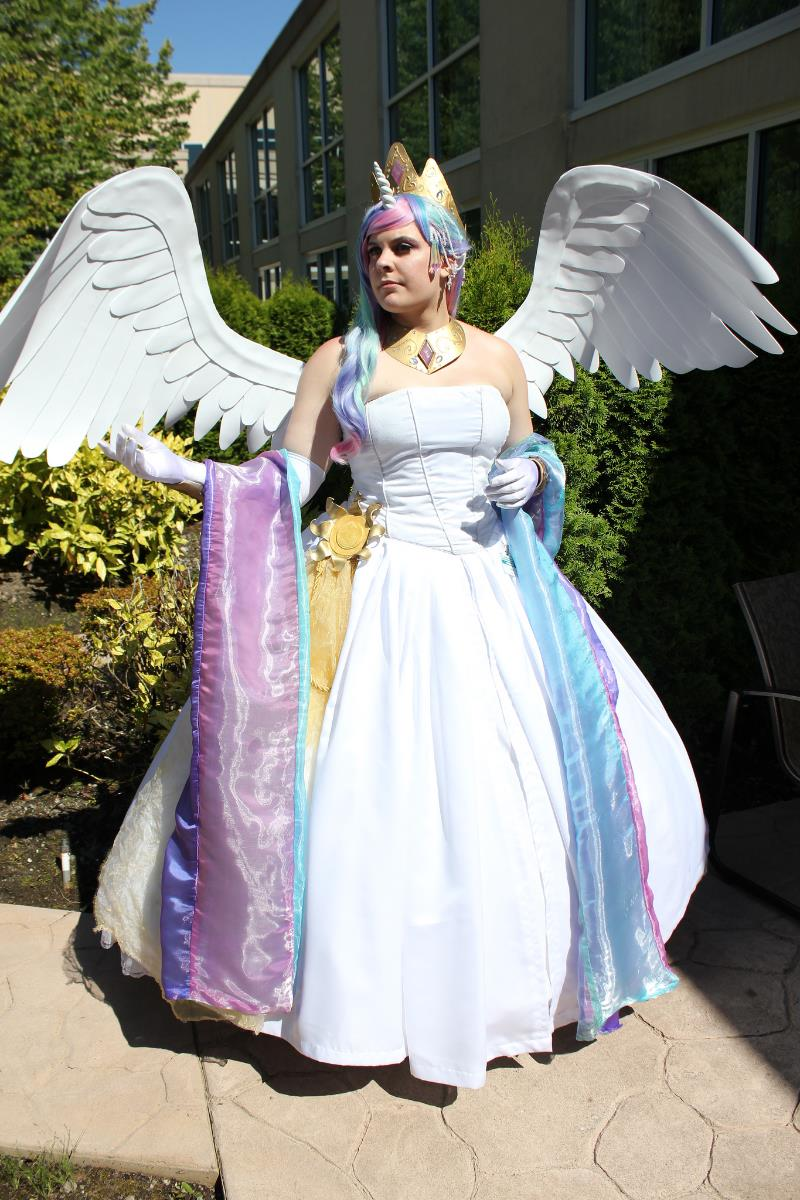 Princess Celestia cosplay, photographed by Ninja Photography