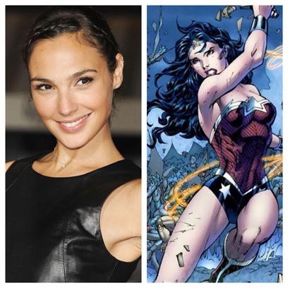 the beautiful Gal Gadot will be the Amazon Princess Diana of Themyscira... Wonder Woman