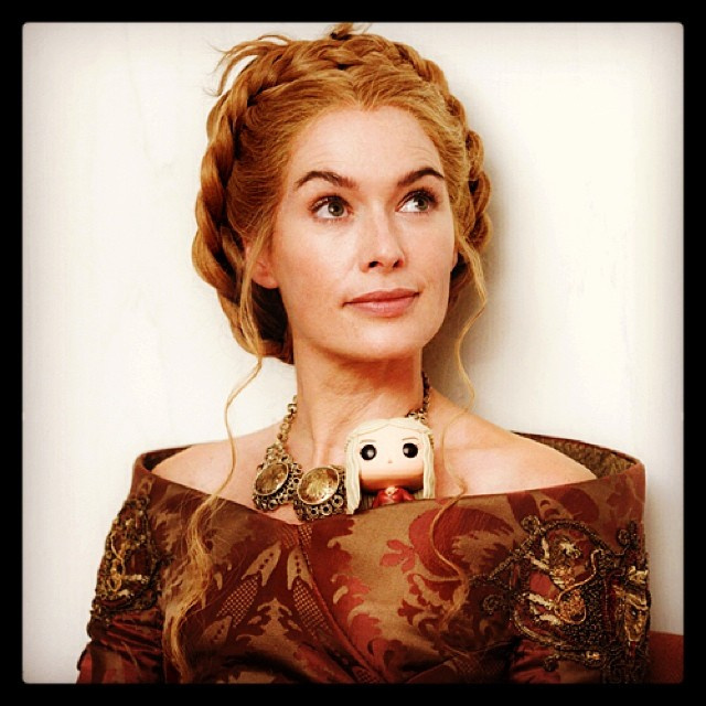Lena Headey and her mini Cersei