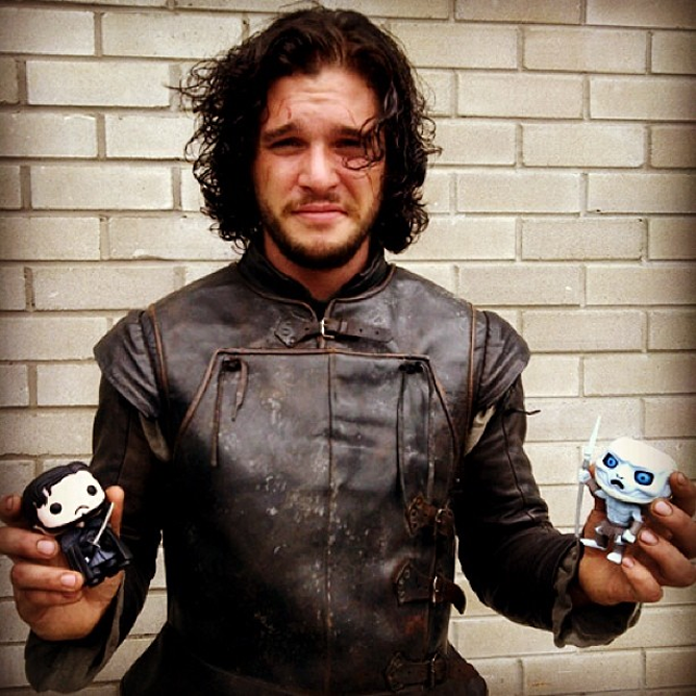 Cheer up Jon Snow! You caught a white walker! [Kit Harrington]
