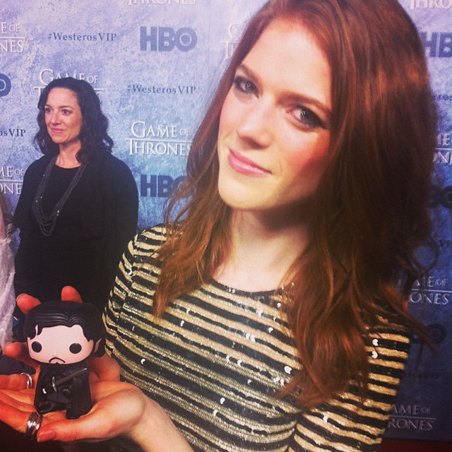 Rose Leslie as Ygritte has little John Snow