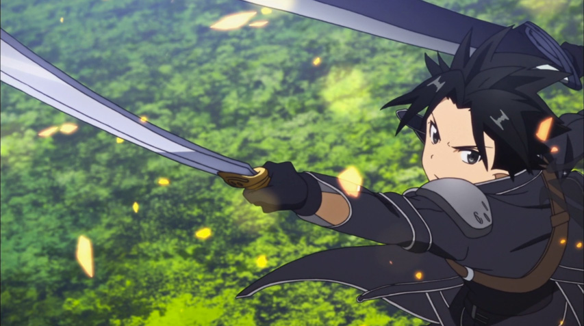 one of Kirito's many battles in ALO
