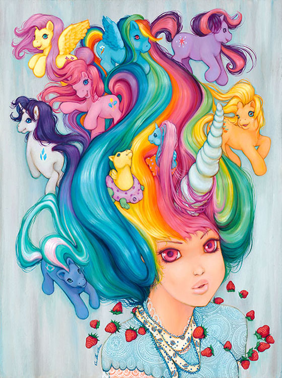 "Artwork by Camilla d'Errico ""My Little Moonberry"""