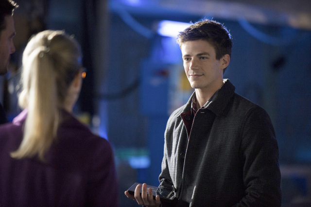 A surprising appearance by Barry Allen (Grant Gustin)