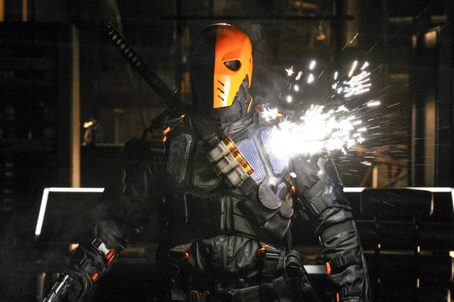 Deathstroke (Manu Bennett) proves to be the Arrow's greatest adversary