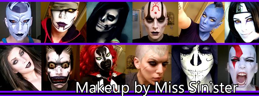 Cosplay make up compilation by Miss Sinister Photo from MIss Sinister cosplay fan page