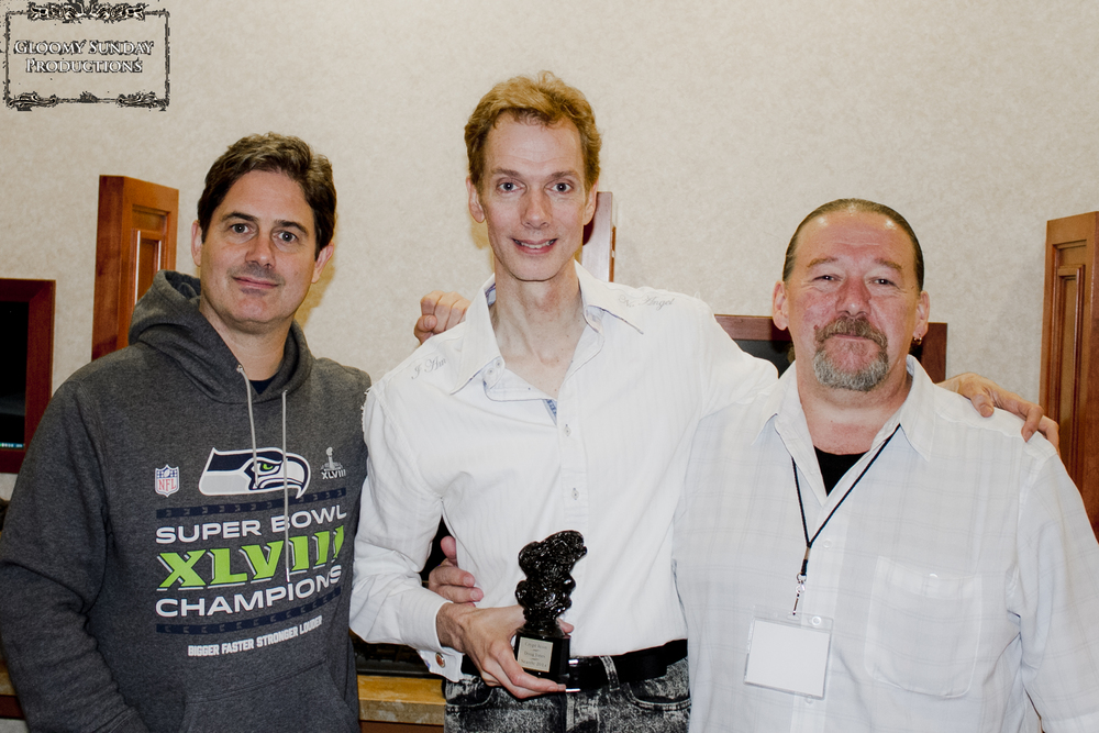 Zach Galligan, Doug Jones, The 2014 Crypt Icon Award, and William Bivens
