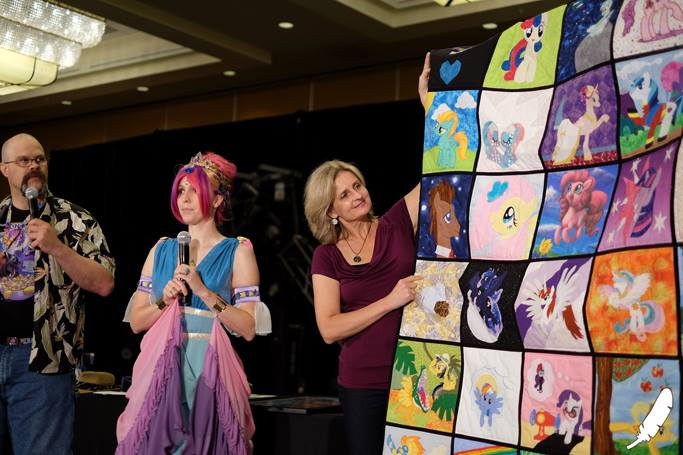 this custom quilt was auctioned off for $20,000... all for the sake of charity