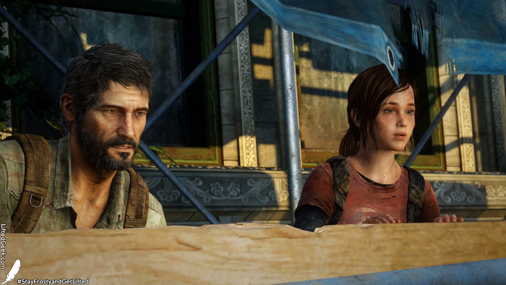 Joel and Ellie,   the main characters