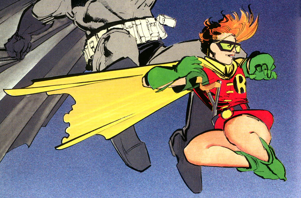 Carrie Kelley... the female Robin from Frank Miller's The Dark Knight Returns